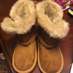 Toddler Girls Braided Boots